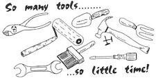 Unmounted Rubber Stamp,  Stamps For Men, Father's Day, Tools, Humorous, Birthday