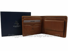 NEW Mens VICENZA ITALIAN Leather Wallet in TAN by VISCONTI Gift Boxed Stylish