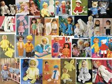100+ FASHION DOLLS CLOTHES & TEDDY KNITTING PATTERNS ON CD TO FIT 12-22 INCH