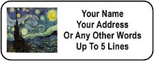 30 Van Gogh Starry Night Personalized Address Labels