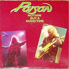 """POISON 'NOTHIN' BUT A GOOD TIME' UK PICTURE SLEEVE 7"""" SINGLE"""