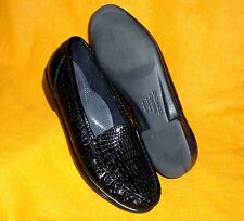 7.5 S SLIM MINTY BLACK CROC PATENT LEATHER SIMPLIFY SHOE SAS WOMENS LOAFER