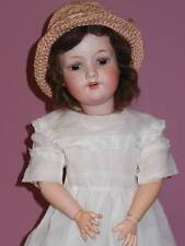 ANTIQUE ARMAND MARSEILLE BISQUE HEAD A 7 1/2 M DOLL FACTORY CLOTHING 24""