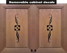 4 -Removable  Cabinet Decal Home Decor Wall Sticker  Vinyl kitchen bathroom bed