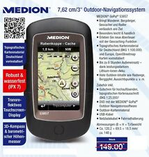"MEDION GoPal S3857 Fahrrad Outdoor Navigationssystem 3""/7,62cm Touchscreen 8GB"
