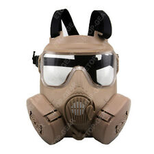 Airsoft M50 Gas Mask Double Filter Fan CS Edition Perspiration Dust Face Guard