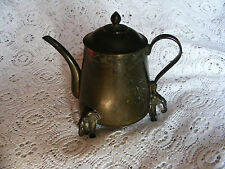 Elephant     Footed     Brass    Coffee    /     Tea    Pot     Height   6.1/2""