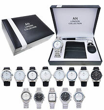 AN London Gift Watch Set with Wallet, Key Chain And Pen for Men's/Boy's - AN116