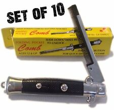 10 NEW POCKET SWITCHBLADE COMB FAKE FOLDING NOVELTY KNIFE TOY SWITCH BLADE COMBS