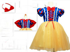 Xmas Clothes Kids Girl Snow White Princess Fancy Dress Cosplay Costume Size 5-6Y