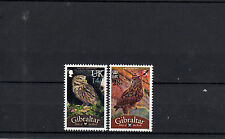 Gibraltar 2013 MNH Birds of Rock Owls Definitive Overprints 2v Set Owl Stamps
