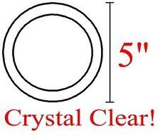 "5"" Circle/Round Bevels - Box of 30 - Premium Clear"