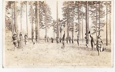 SIGNAL DRILL CANTONMENT  AMERICAN LAKE WASHINGTON 1918 WW1 POSTCARD