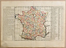 Carte anc. MANTELLE CHANLAIRE map c1805 DESCRIPTION DE LA FRANCE 83 départements