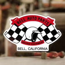 Bell Auto Parts Aufkleber Sticker Original Autocollante Helmet Helm Flags Race