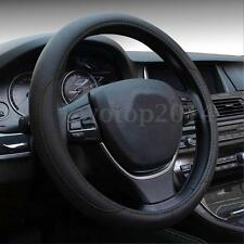 M 38cm Black Non-slip Pu Leather Vehicle Car Steering Wheel Cover Protector New