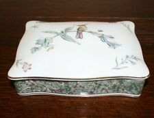 Wedgwood Bone China Playing Card Box with Cards - Humming Bird Design