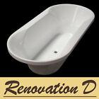 New OVAL Round Bathroom 1800 x 900 Acrylic Drop In Bath Tub Bathtub BTU-8184