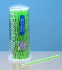 BULK PK.100 MICROBRUSH REGULAR GREEN MINI PAINT BRUSHES MODEL KITS AIRFIX ETC