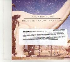(DR582) Andy Burrows, Because I Know That I Can - 2012 DJ CD