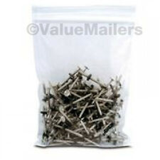 100 12x15 Clear Plastic Zipper Poly Locking Reclosable Bags 2 MiL