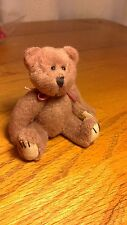 "Handmade Brown Faux Fur Bear 3.5"" Fully Jointed"