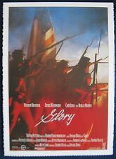 Filmplakatkarte cinema   Glory  Matthew Broderick , Denzel Washington ,M.Freeman
