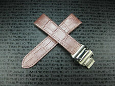 23mm Leather Strap Deployment Buckle set Pink Watch Band SANTOS 100 XL