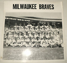 ANTIQUE ORIGINAL PHOTO MILWAUKEE BRAVES BASEBALL PHOTO 1958 ?