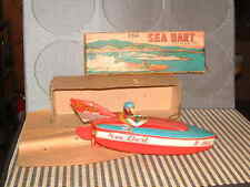 BANDAI NOS WIND-UP FRICTION DRIVEN SEA DART BOAT IN ORIGINAL BOX! NEVER USED!