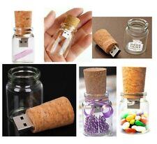 New 16GB Wishing Drift Bottle USB 2.0 Memory Stick Flash Pen Drive Creative Gift