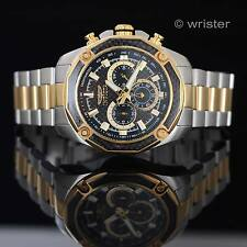 Invicta Aviator 18k Gold IP SS Black Carbon Fiber Chronograph 48mm Men's Watch