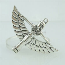 15326 5PCS Alloy Antique Silver Vintage Egyptian Pharaonic Winged ISIS Pendant