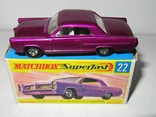 Matchbox Superfast No. 22 - PONTIAC COUPE' DARKER PURPLE - Mint/Boxed MIB