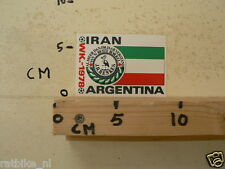 STICKER,DECAL WK ARGENTINA 1978 VOETBAL,SOCCER JH HENKES IRAN