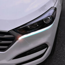 FIT FOR 2016 HYUNDAI TUCSON CHROME HEADLIGHT EYELID TRIM COVER  EYEBROW GARNISH