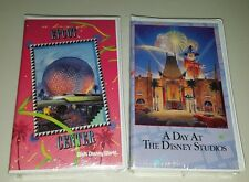 VHS Lot 1991 Vintage A DAY AT EPCOT CENTER Walt Disney World 1995 DISNEY STUDIOS