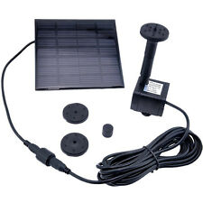 Solar Panel Powered Fountain Garden Pool Pond Submersible Water Pump Features SE