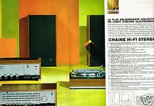 Publicité Advertising 1967 (2 pages) Chaine Hi Fi Stereo Philips