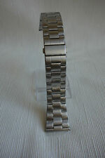 SOLID SUPER HEAVY DUTY STAINLESS STEEL WATCH BAND - COLOUR SILVER 28MM