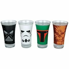 Star Wars Set of 4 Shot Glasses Darth Vader Stormtrooper Boba Fett Chewbacca