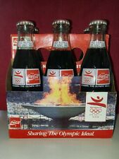 6 pack 8 FL OZ Coca-Cola Full Glass Bottles 1992 Barcelona Olympics Original