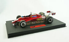 1/18 BBR FERRARI 126C2 GP SAN MARINO 1982 D.PIRONI DELUXE BLACK LEATHER LE 10 MR