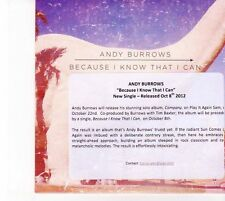 (DZ771) Andy Burrows, Because I Know That I Can - 2012 DJ CD