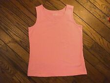 NWOT Denim and Company Pink Sleeveless Stretch Knit Top     Size Small