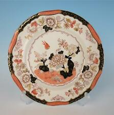 Antique Ashworth English Imari Plate 8794 Bird Flowers Pottery China Bros.