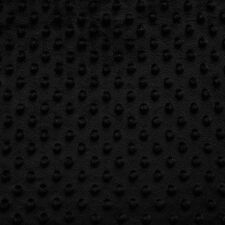 "MINKY DIMPLE DOT FABRIC BLACK 60"" WIDTH SOFT BABY SEW SOLD BY THE YARD"