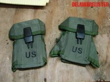 Military Army M16 Small Arms Ammo Pouch W/ Alice Clips Holds 3 Mags Lot of 2