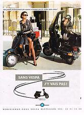 PUBLICITE ADVERTISING 025  1990  VESPA PIAGGIO    50cm3  scooter