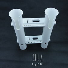 STOCK White Boat Plastic Rod Holder 2 Tube Fishing Rod Holder Rack Free Shipping